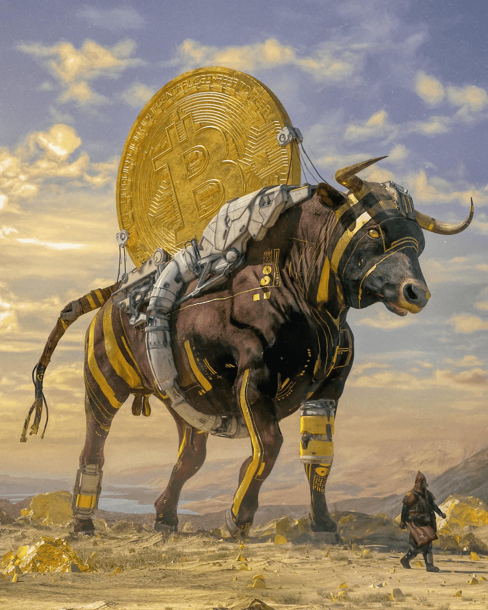 Bull Run #6/271 by Beeple